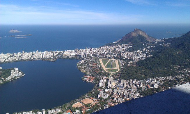 View from the way to the Corcovado